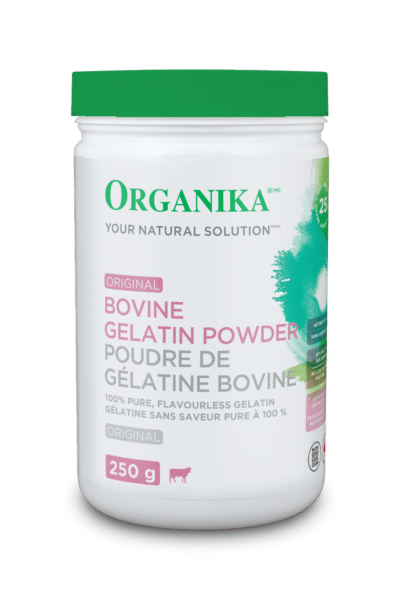 Supplements & Vitamins - Organika - Bovine Gelatin Powder, 250g