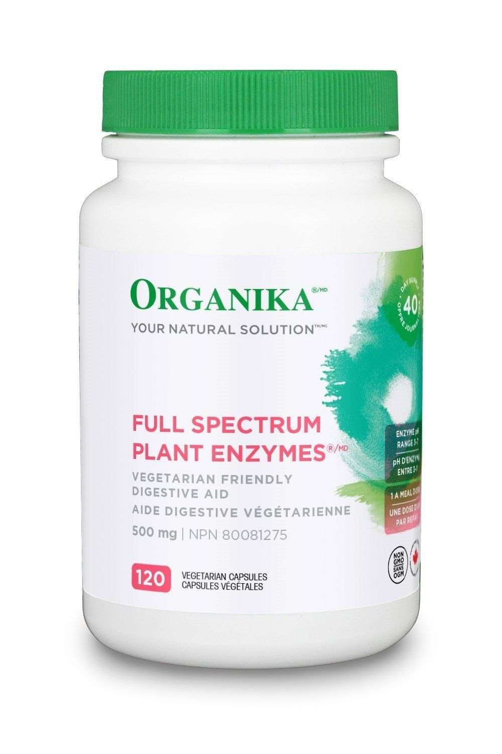 Supplements & Vitamins - Organika - Full Spectrum Plant Enzymes, 120 Capsules