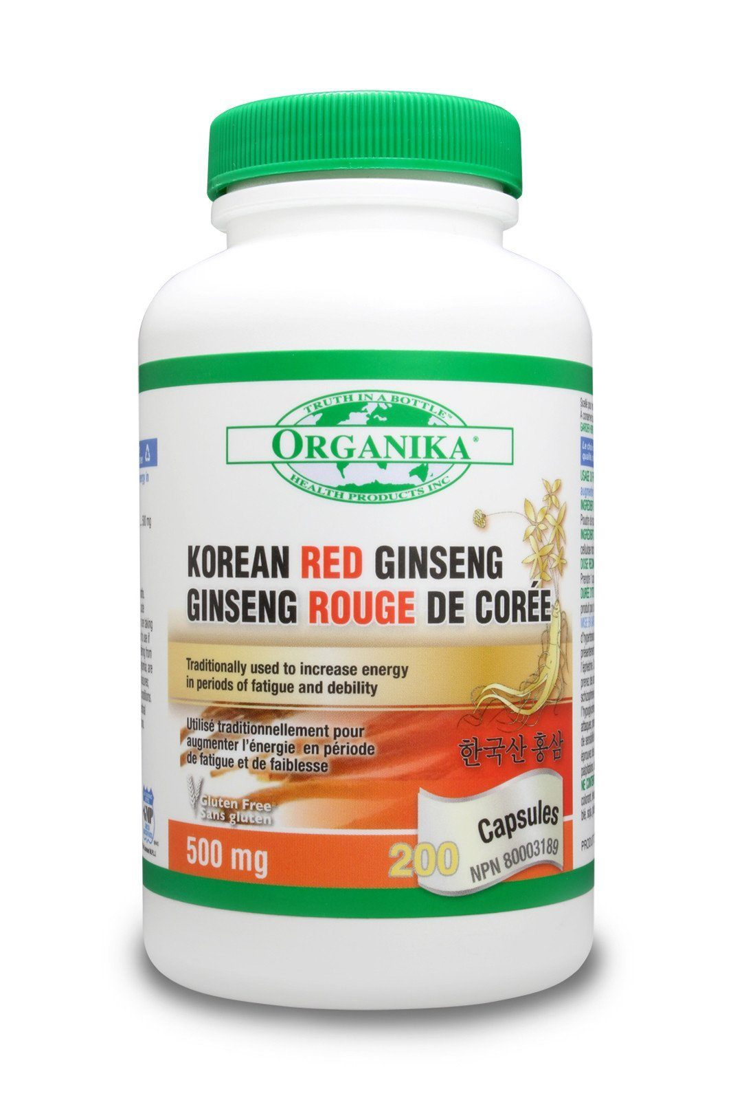 Supplements & Vitamins - Organika - Korean Red Ginseng, 200 Capsules
