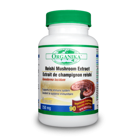 Supplements & Vitamins - Organika - Reishi Mushroom - 90vcaps