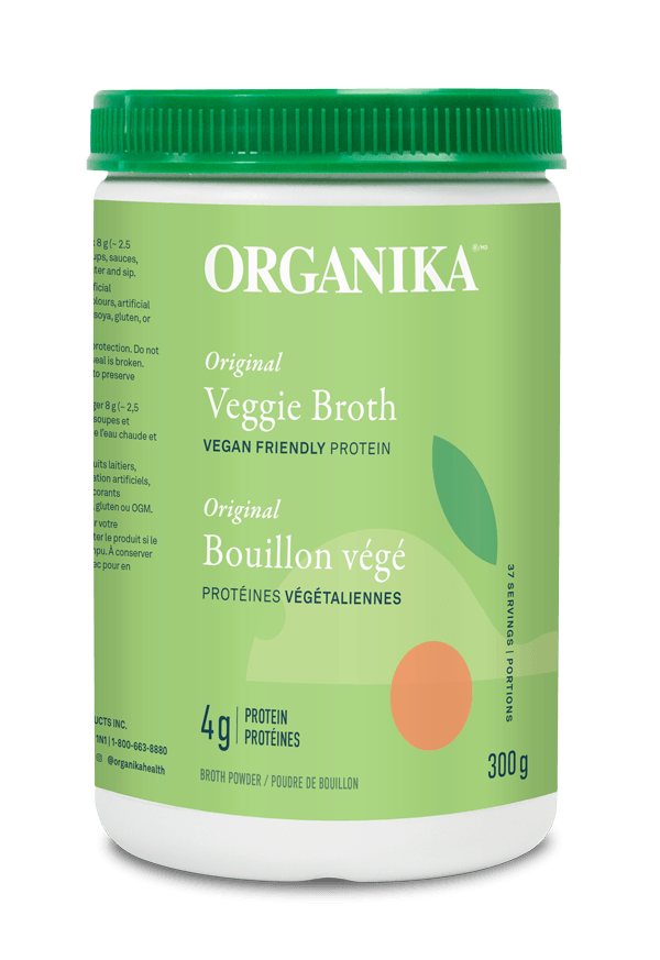 Supplements & Vitamins - Organika - Veggie Broth Protein Powder, 300g
