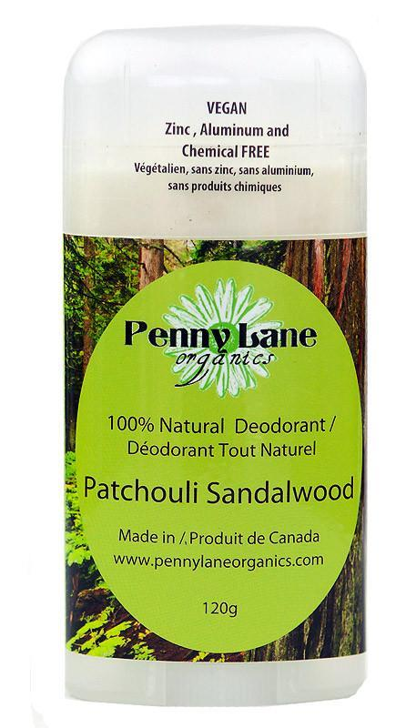 Supplements & Vitamins - Penny Lane Organics - Patchouli Sandalwood Deodorant, 120g