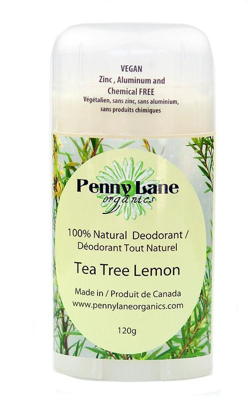 Supplements & Vitamins - Penny Lane Organics - Tea Tree Lemon Deodorant, 120g
