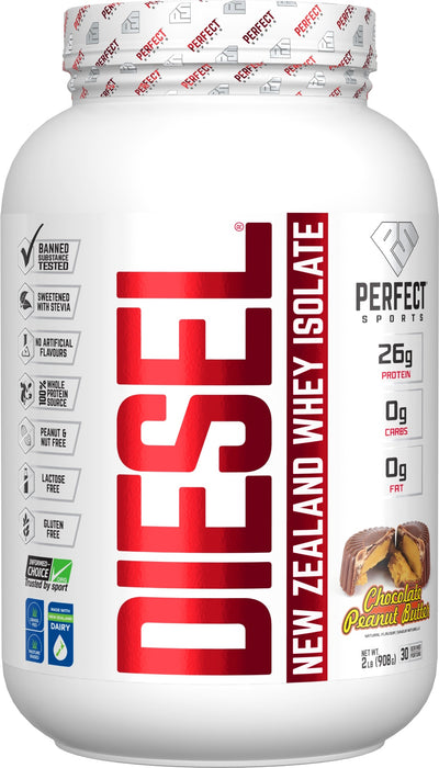 Supplements & Vitamins - Perfect Sports - Diesel Chocolate Peanut Butter Whey Isolate, 908g
