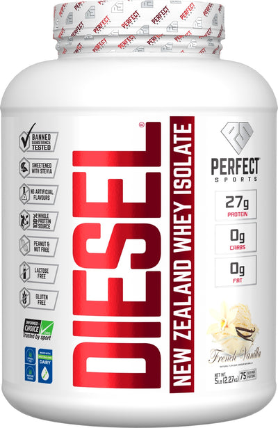 Supplements & Vitamins - Perfect Sports - Diesel Vanilla Whey Isolate, 5lbs