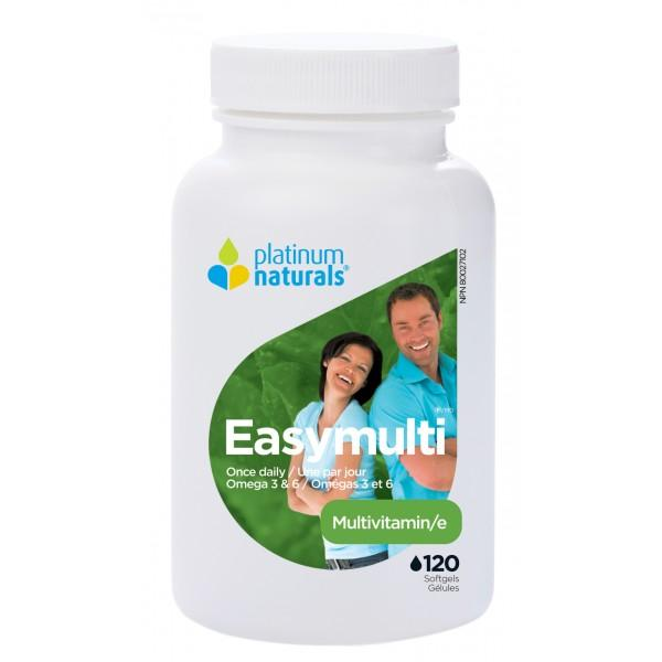 Supplements & Vitamins - Platinum - Easy Multi, 120 Caps