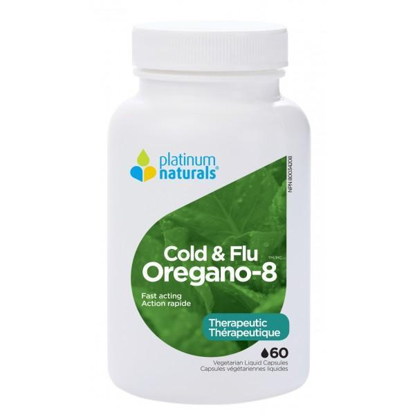 Supplements & Vitamins - Platinum - Oregano-8, 60 Caps
