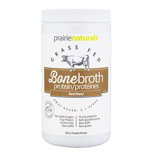 Supplements & Vitamins - Prairie Naturals -Beef Bone Broth Protein Powder, 300g