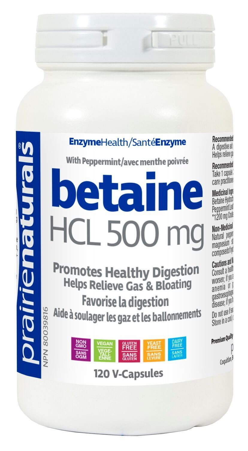 Supplements & Vitamins - Prairie Naturals - Betaine Hcl - 120 Vcaps