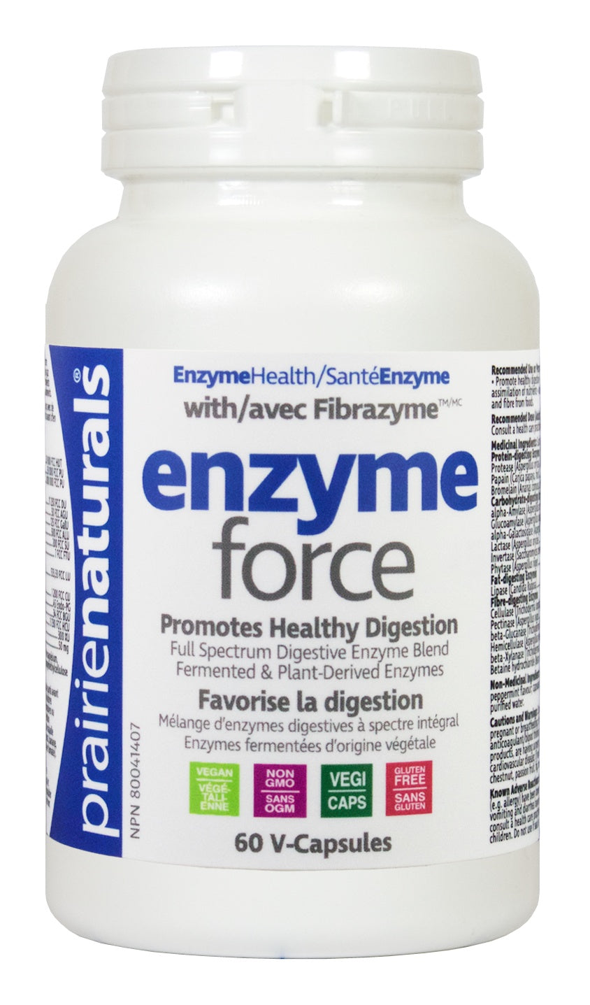 Supplements & Vitamins - Prairie Naturals - Enzyme-Force With FibraZyme™, 60 Caps