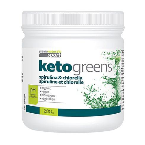 Supplements & Vitamins - Prairie Naturals - KetoGreens With Chlorella & Spirulina, 200g