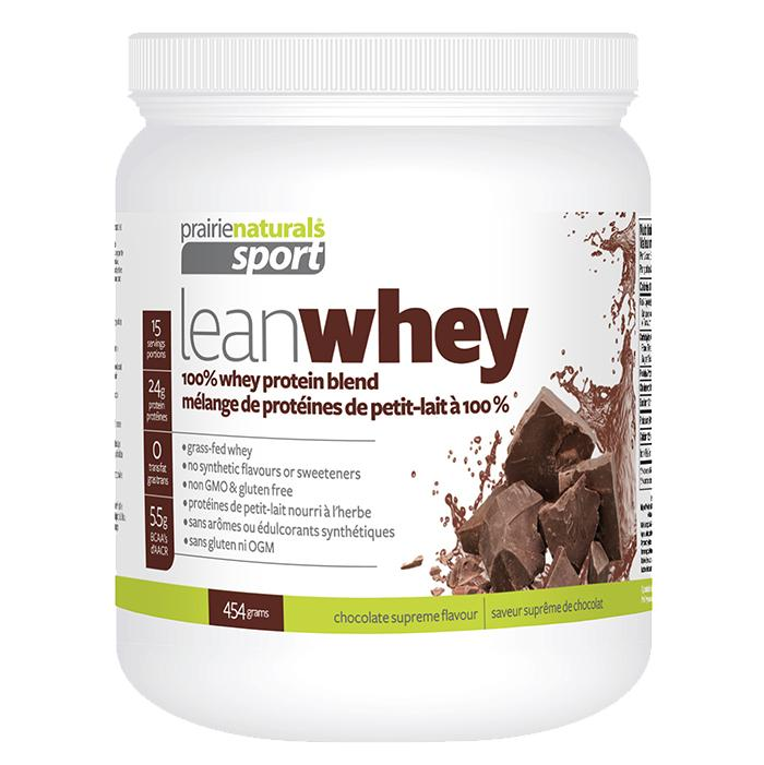 Supplements & Vitamins - Prairie Naturals - Lean Whey Protein - Chocolate, 454g
