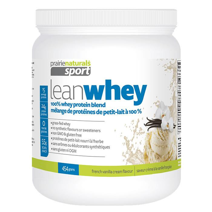 Supplements & Vitamins - Prairie Naturals - Lean Whey Protein - Vanilla Cream, 454g