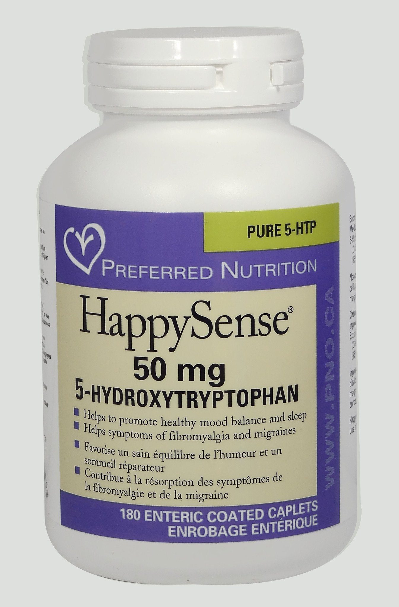 Supplements & Vitamins - Preferred Nutrition - HappySense 5HTP 100mg, 120 Caps