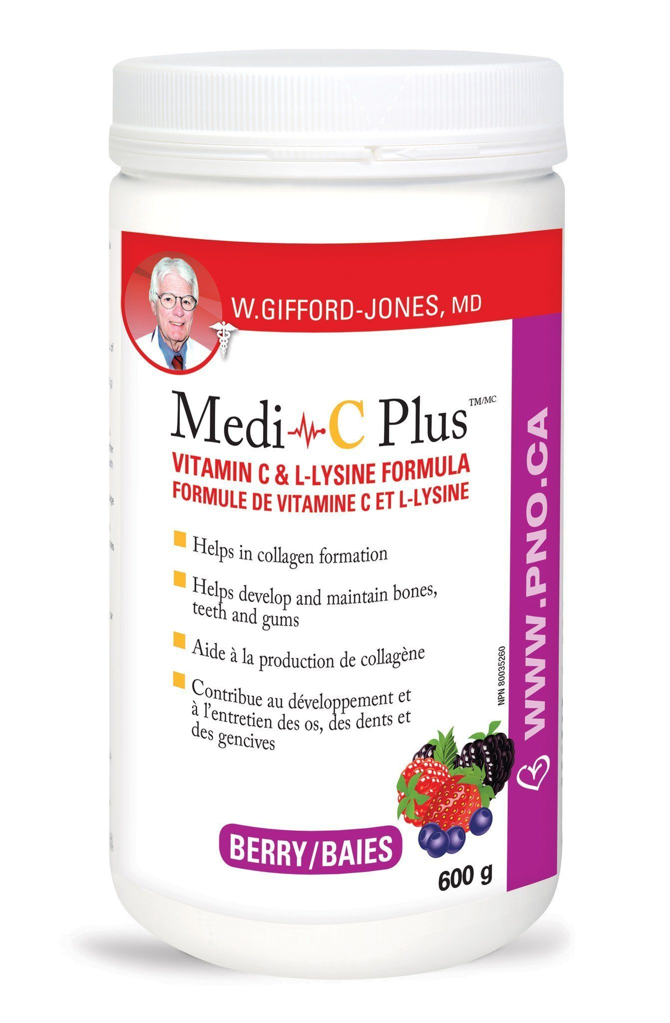 Supplements & Vitamins - Preferred Nutrition - Medi-C Plus Berry, 600g