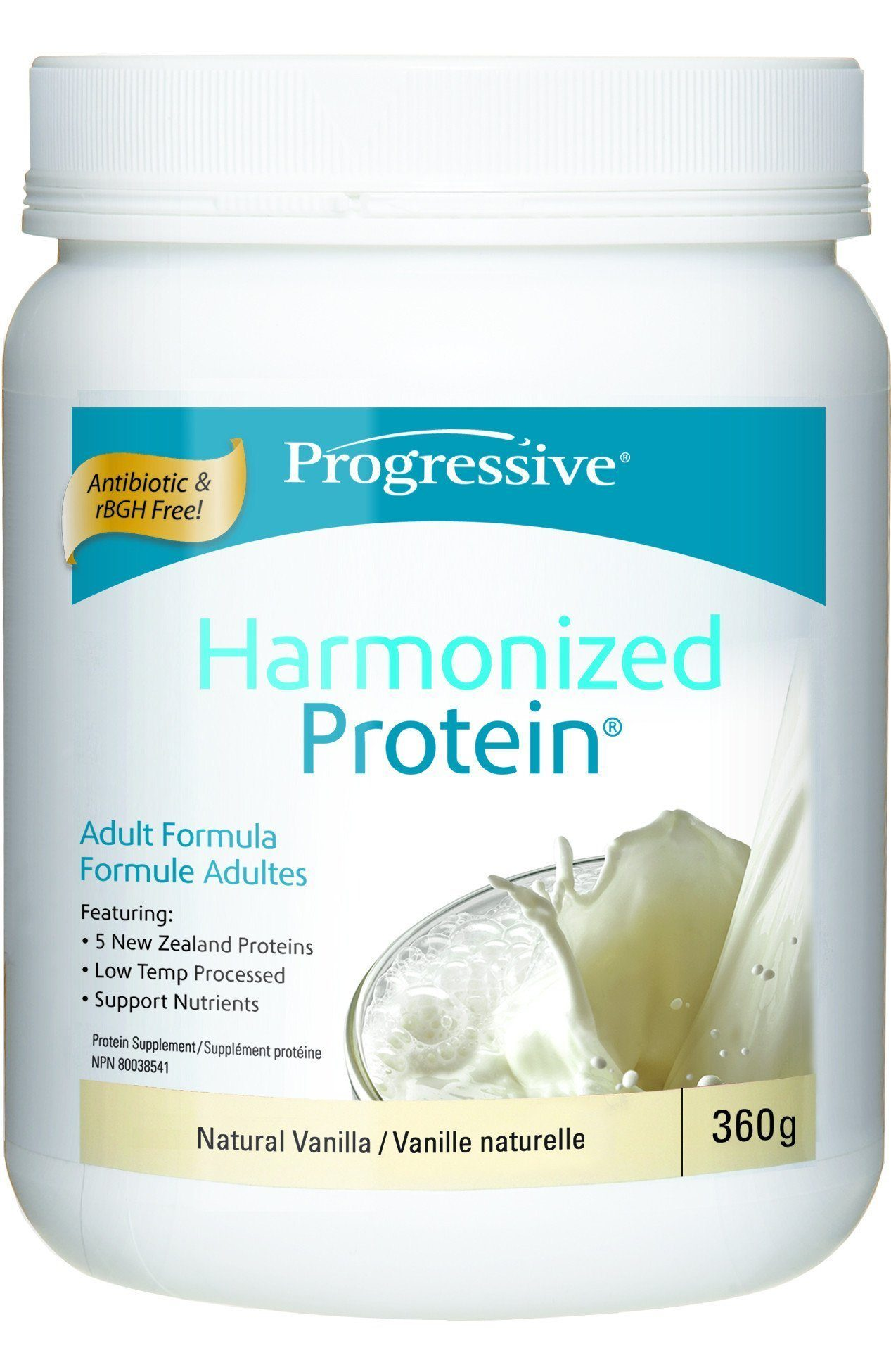 Supplements & Vitamins - Progressive - Harmonized Protein Vanilla, 360g