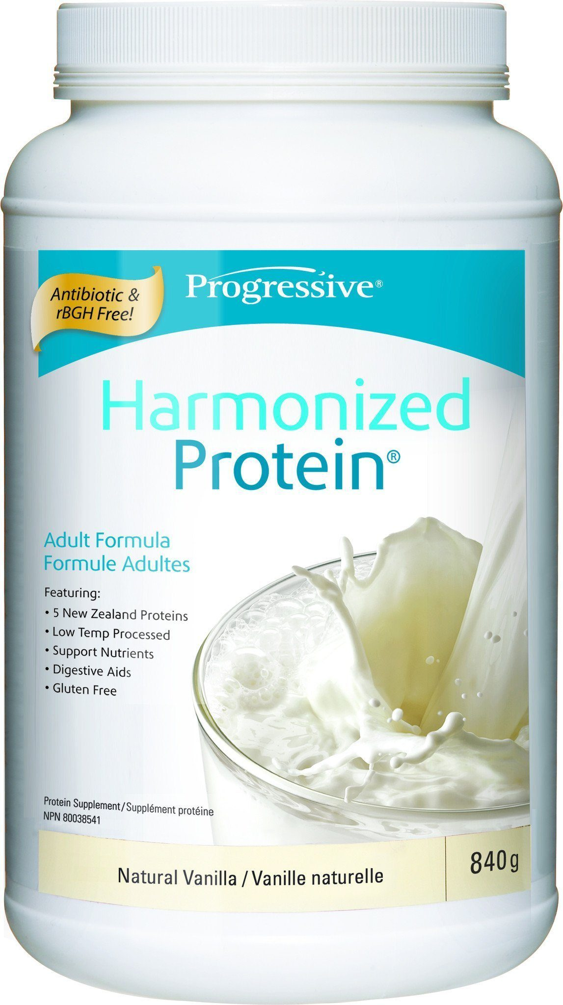 Supplements & Vitamins - Progressive - Harmonized Protein Vanilla, 840g