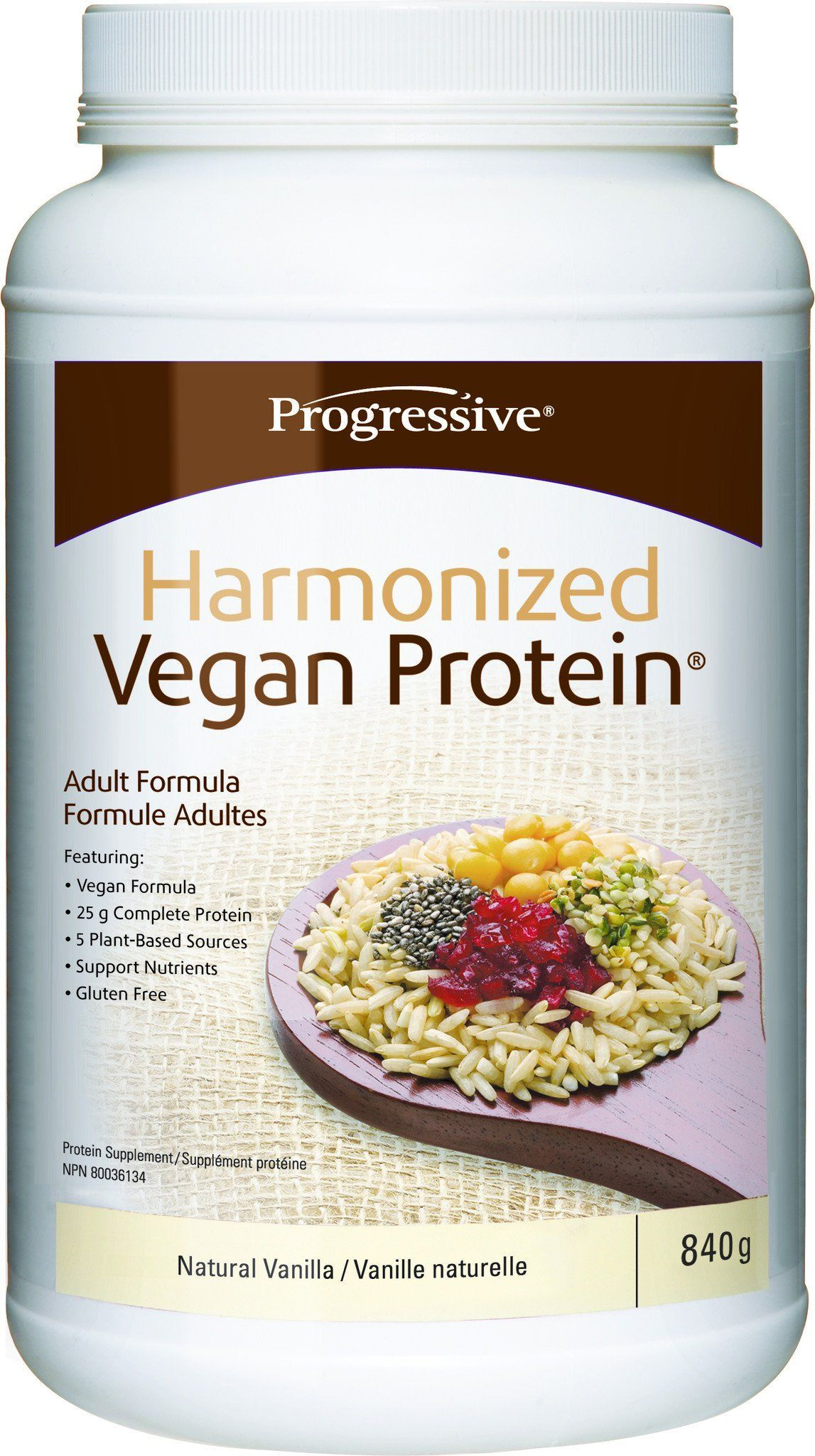 Supplements & Vitamins - Progressive - Harmonized Vegan Protiein Vanilla, 840g