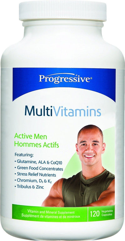 Supplements & Vitamins - Progressive - MultiVitamins For Active Men, 120 Caps