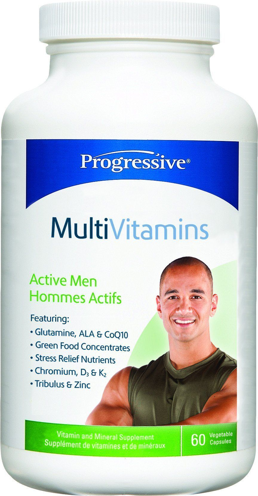 Supplements & Vitamins - Progressive - MultiVitamins For Active Men, 60 Caps