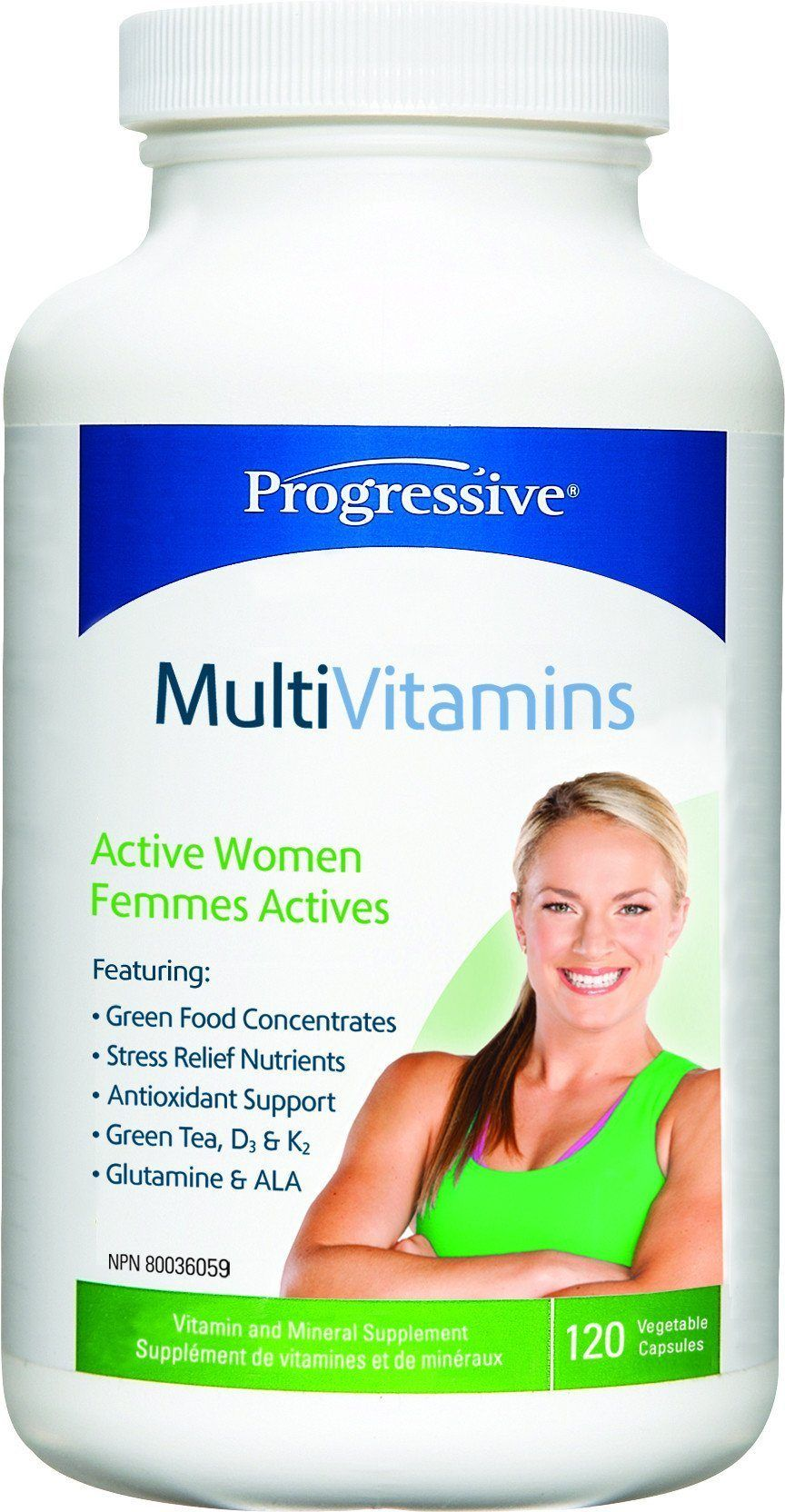 Supplements & Vitamins - Progressive - MultiVitamins For Active Women, 120 Caps
