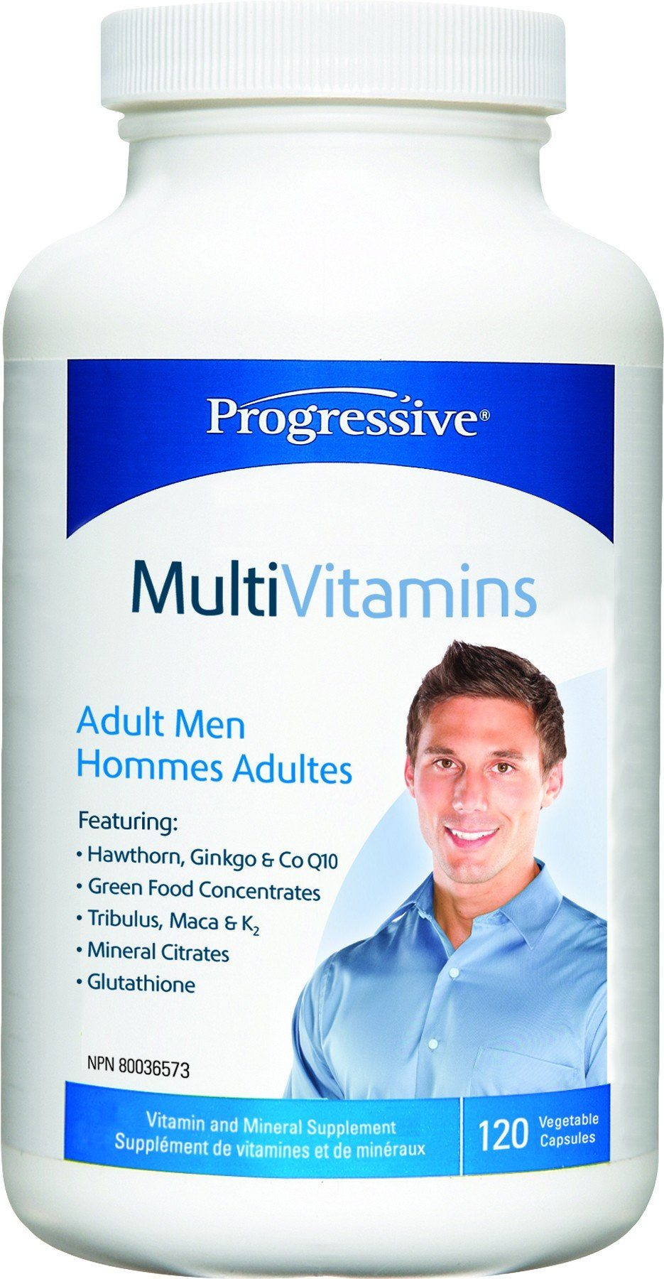 Supplements & Vitamins - Progressive - MultiVitamins For Adult Men, 120 Caps