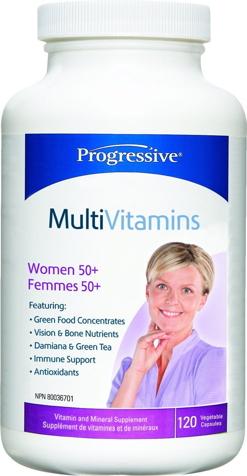 Supplements & Vitamins - Progressive - MultiVitamins For Women 50+, 120 Caps