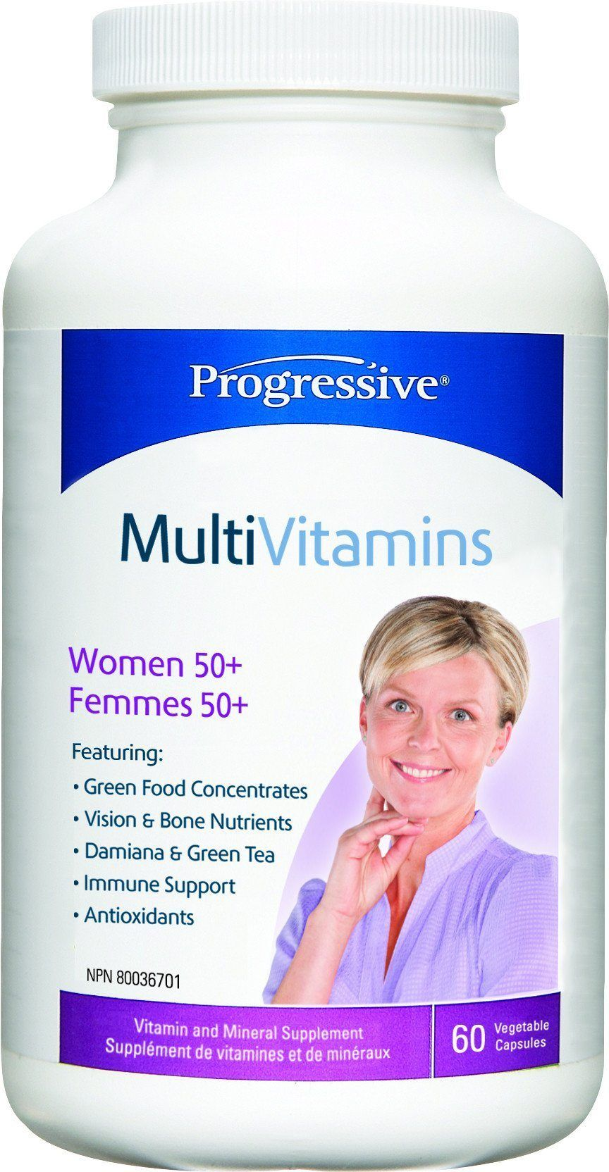 Supplements & Vitamins - Progressive - MultiVitamins For Women 50+, 60 Caps