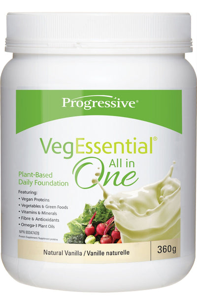 Supplements & Vitamins - Progressive - VegEssential™ All In One Vanilla, 360g