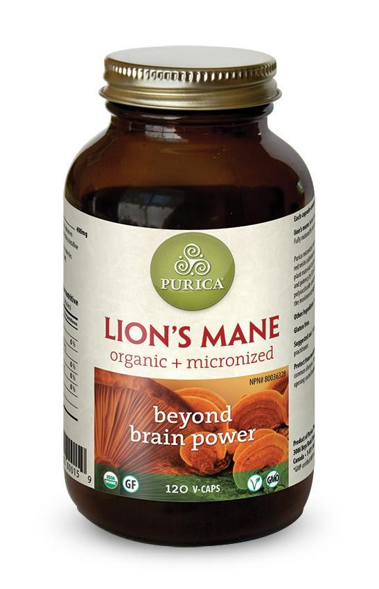 Supplements & Vitamins - Purica - Lion's Mane Mushroom, 120 Caps