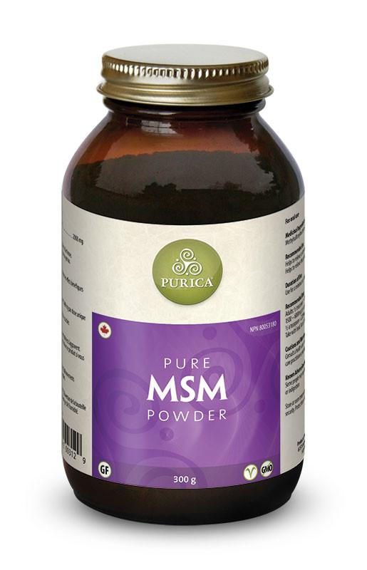 Supplements & Vitamins - Purica - MSM Powder, 300g