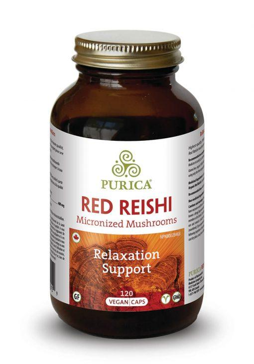 Supplements & Vitamins - Purica - Red Reishi, 120 Caps