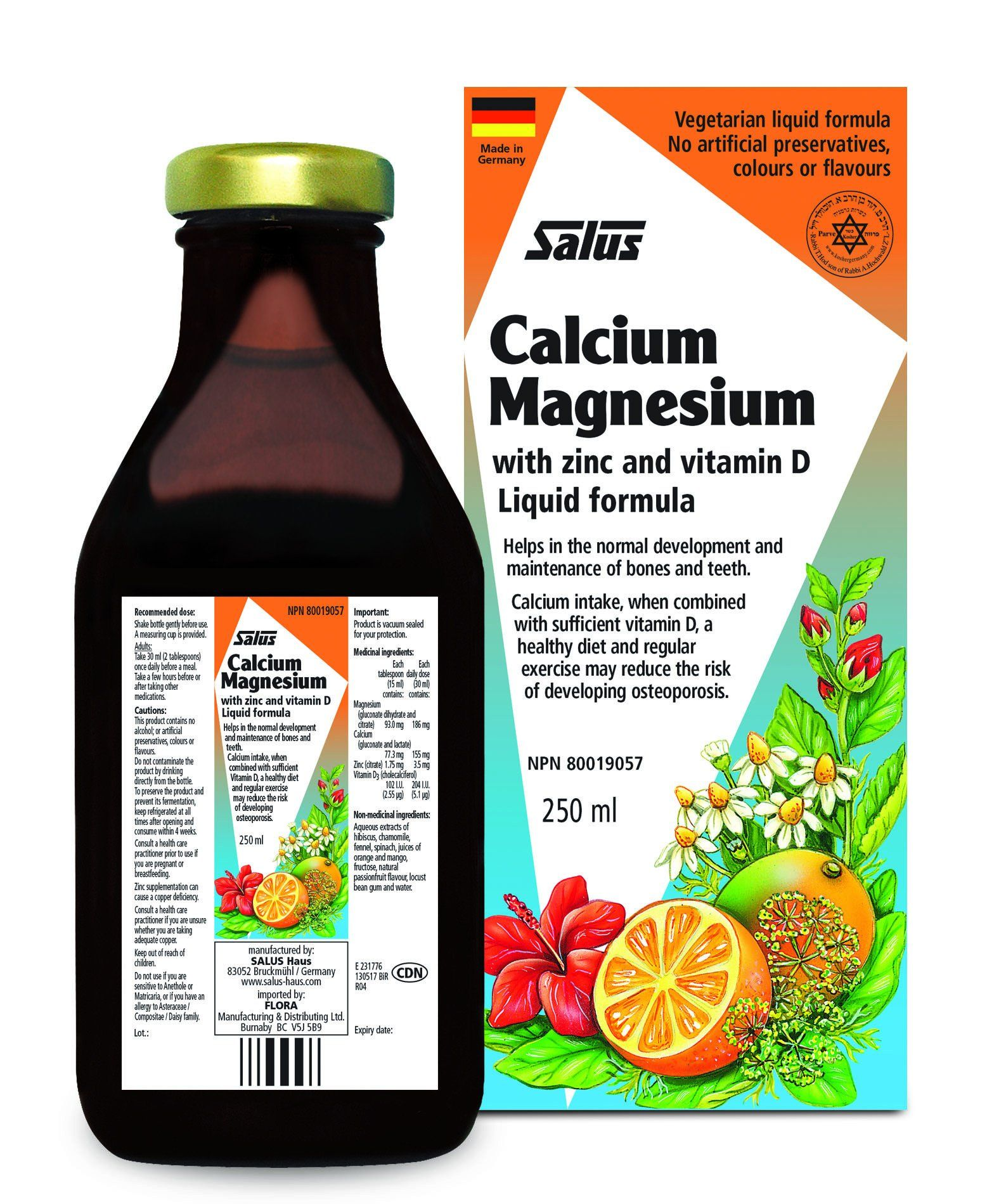 Supplements & Vitamins - Salus - Calcium Magnesium, 250ml