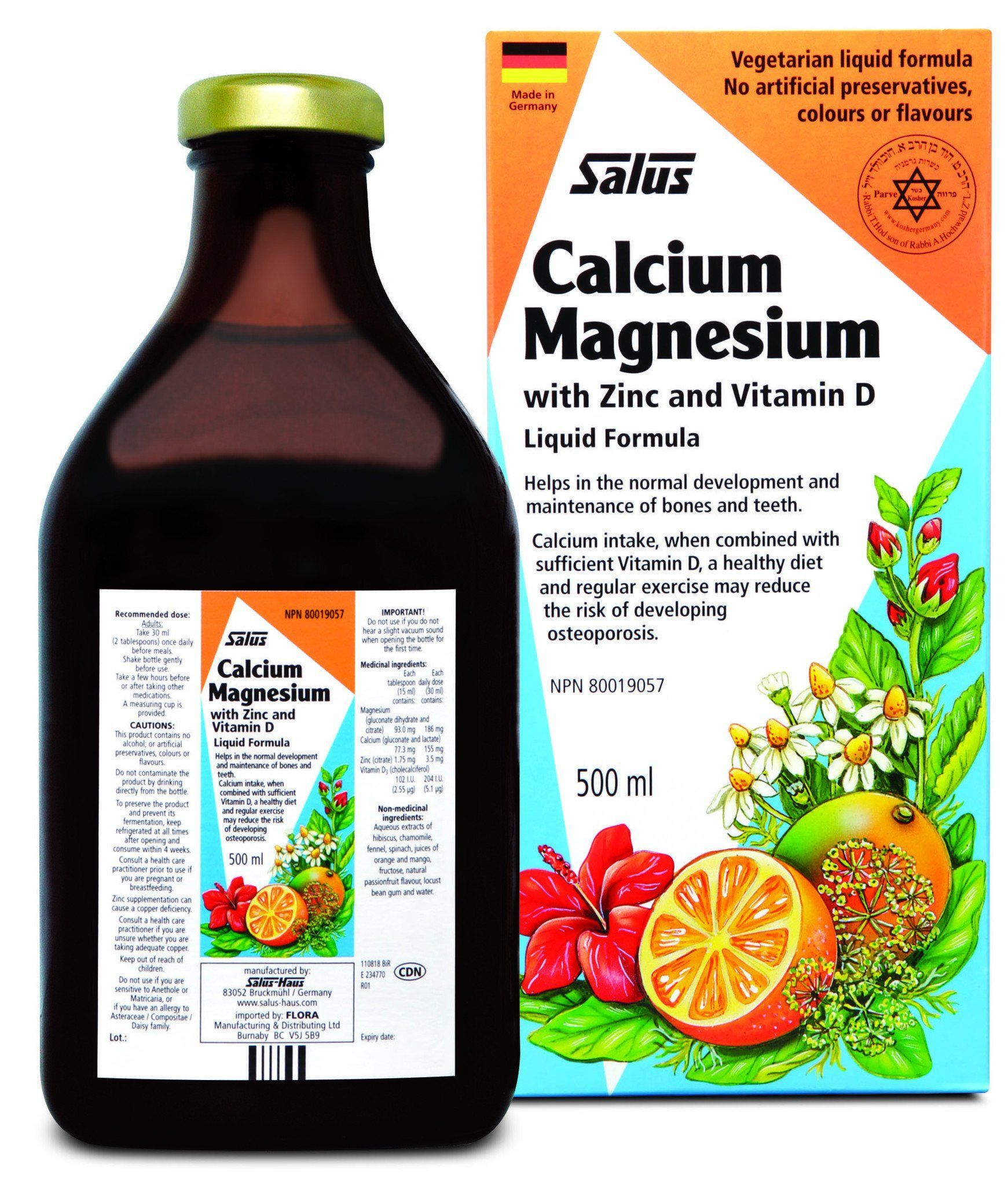Supplements & Vitamins - Salus - Calcium Magnesium, 500ml