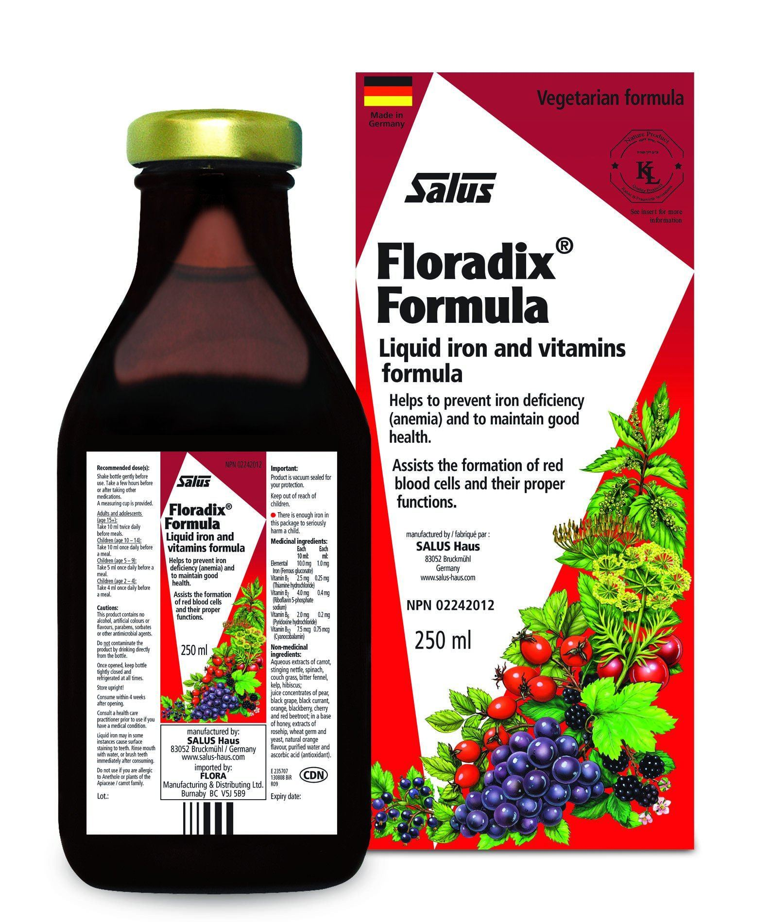 Supplements & Vitamins - Salus - Floradix Formula, 250ml
