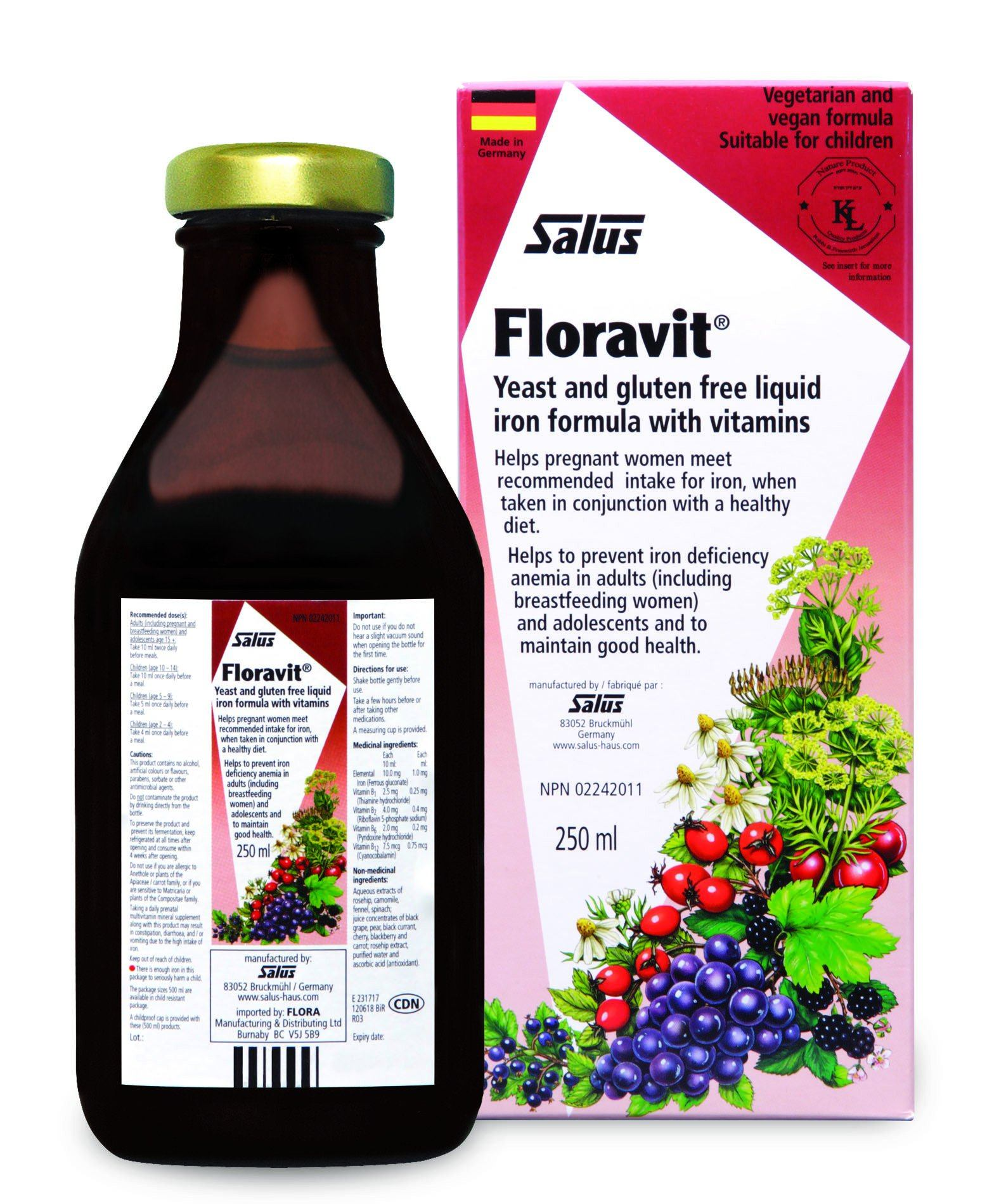 Supplements & Vitamins - Salus - Floravit, 250ml