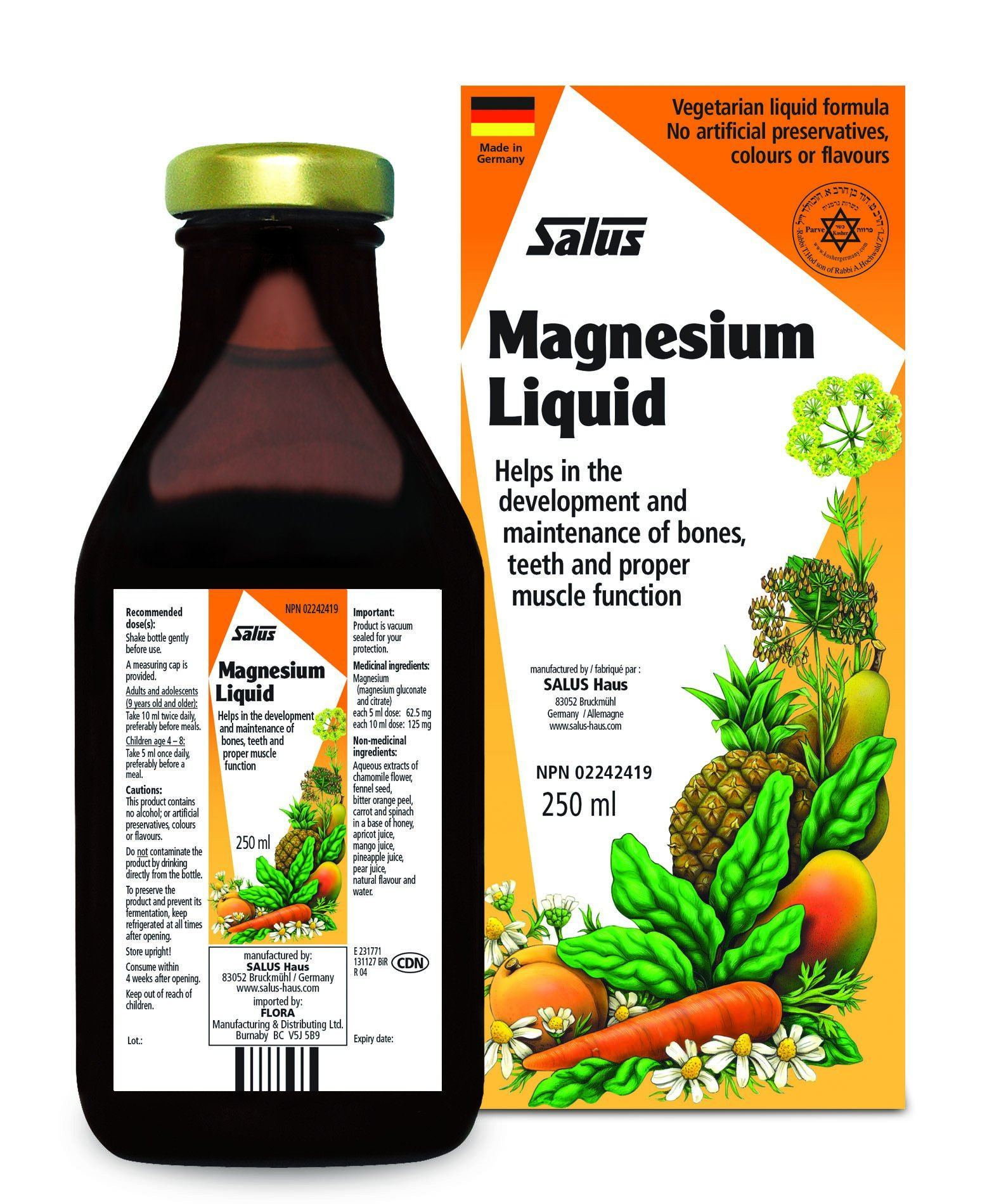 Supplements & Vitamins - Salus - Magnesium Liquid, 250ml
