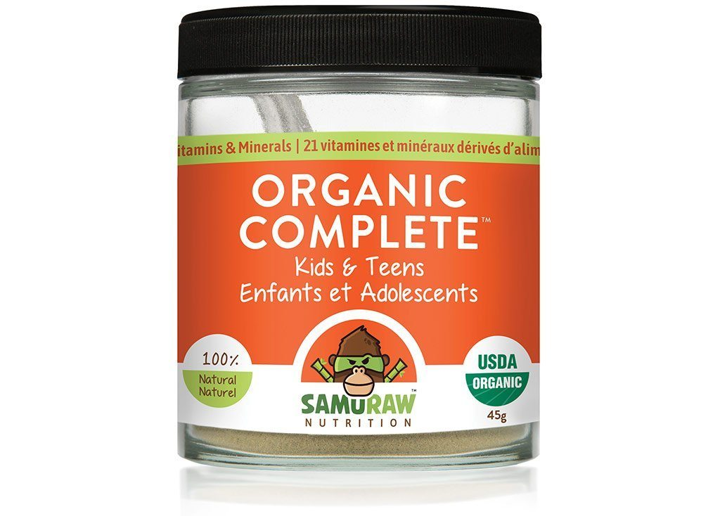 Supplements & Vitamins - Samuraw - Organic Complete For Kids & Teens, 45g