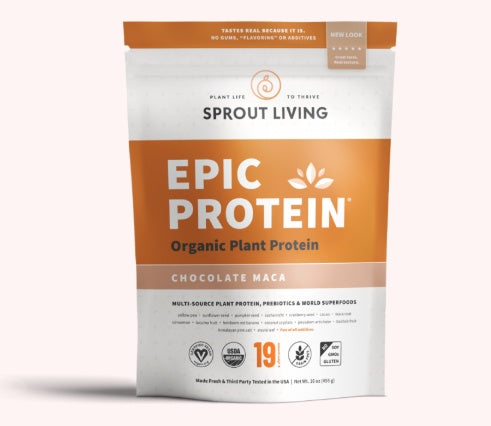 Supplements & Vitamins - Sprout Living - Epic Protein - Chocolate Maca, 454g