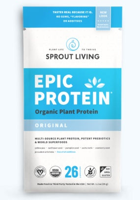 Supplements & Vitamins - Sprout Living - Epic Protein - Original Plant Protein, 35g