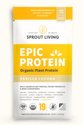 Supplements & Vitamins - Sprout Living - Epic Protein - Vanilla Lucuma, 35g