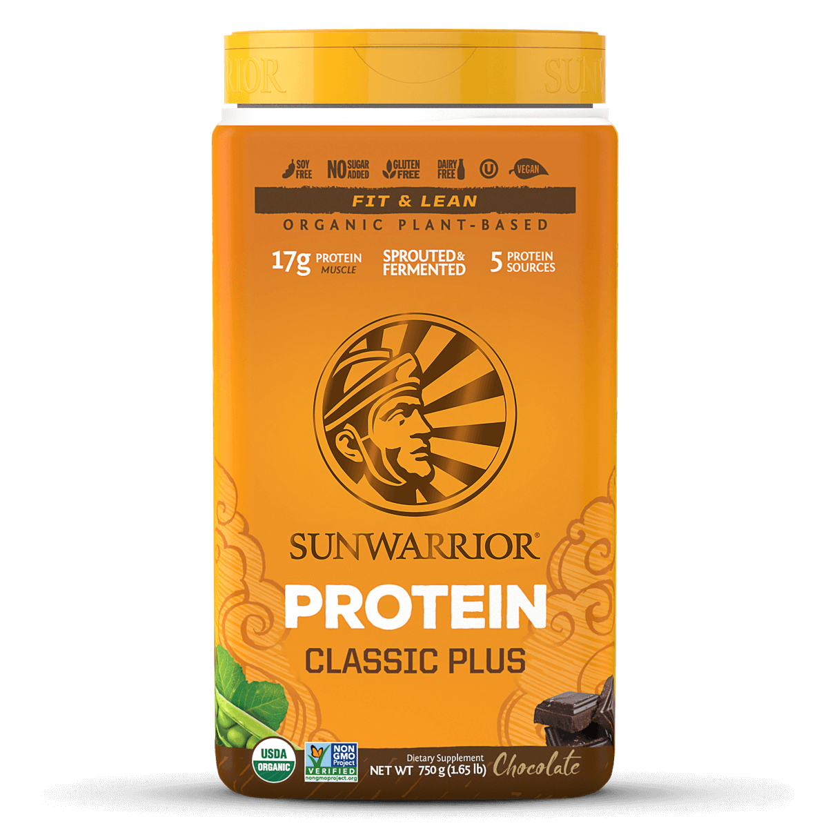 Supplements & Vitamins - Sun Warrior - Classic Plus (chocolate), 750g