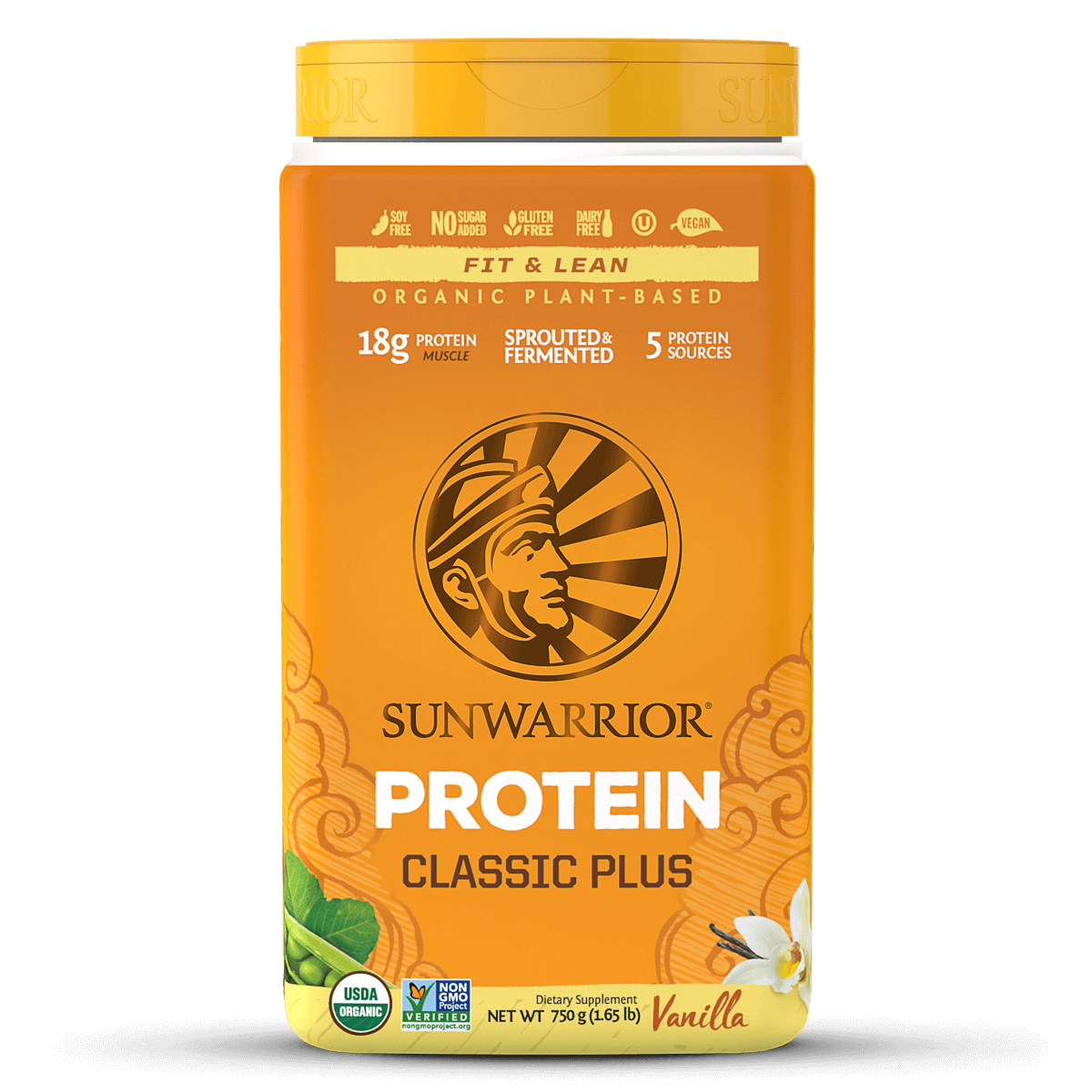 Supplements & Vitamins - Sun Warrior - Classic Plus (vanilla), 750g