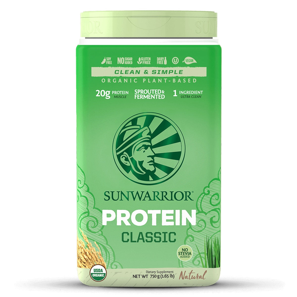 Supplements & Vitamins - Sun Warrior - Classic Rice Protein (natural), 750g