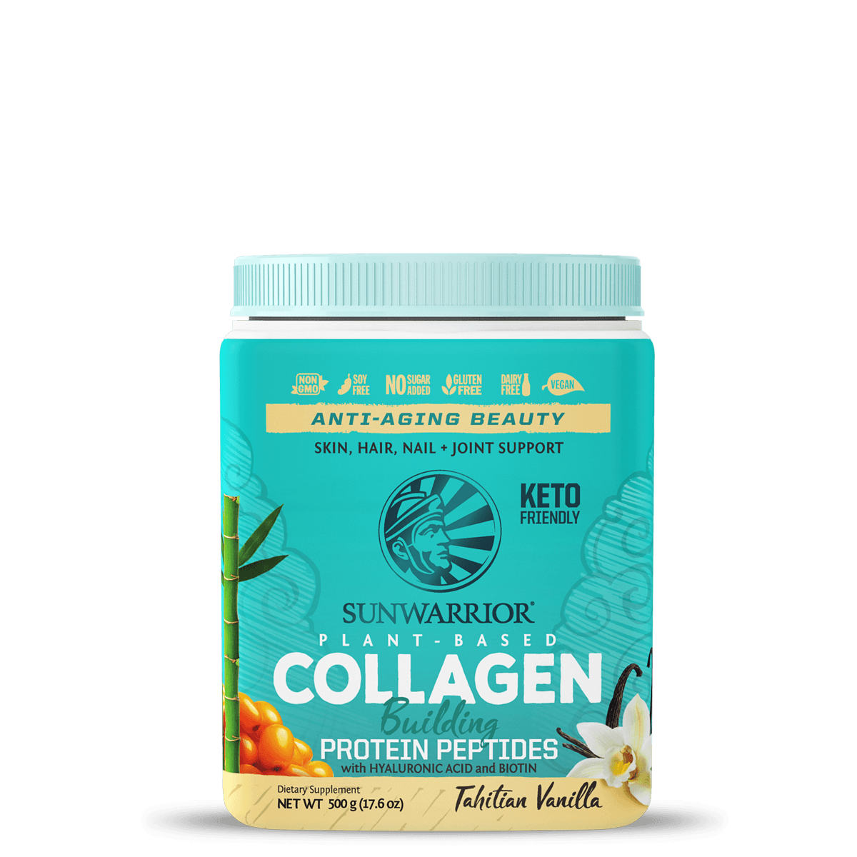 Supplements & Vitamins - Sun Warrior - Plant-Based Collagen - Tahitian Vanilla, 500g