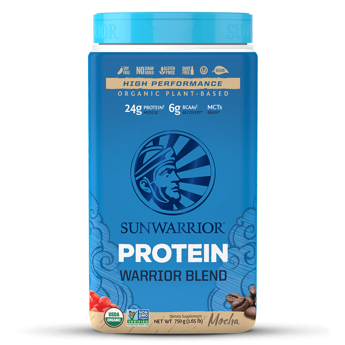 Supplements & Vitamins - Sun Warrior - Warrior Blend Protein (mocha), 750g