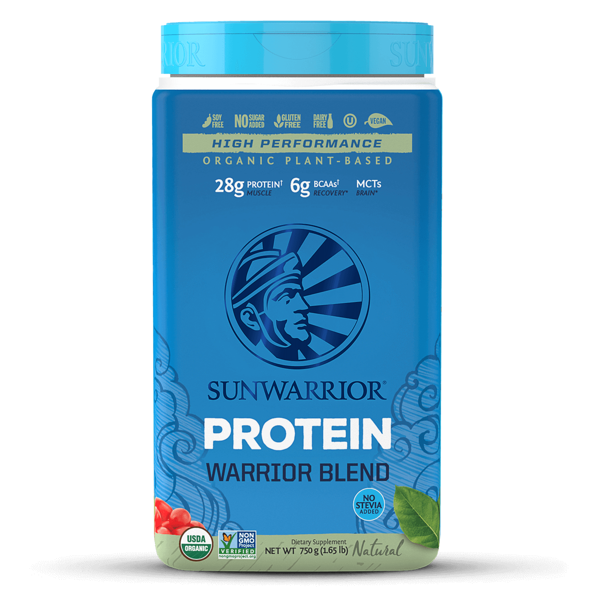 Supplements & Vitamins - Sun Warrior - Warrior Protein Blend (natural), 750g