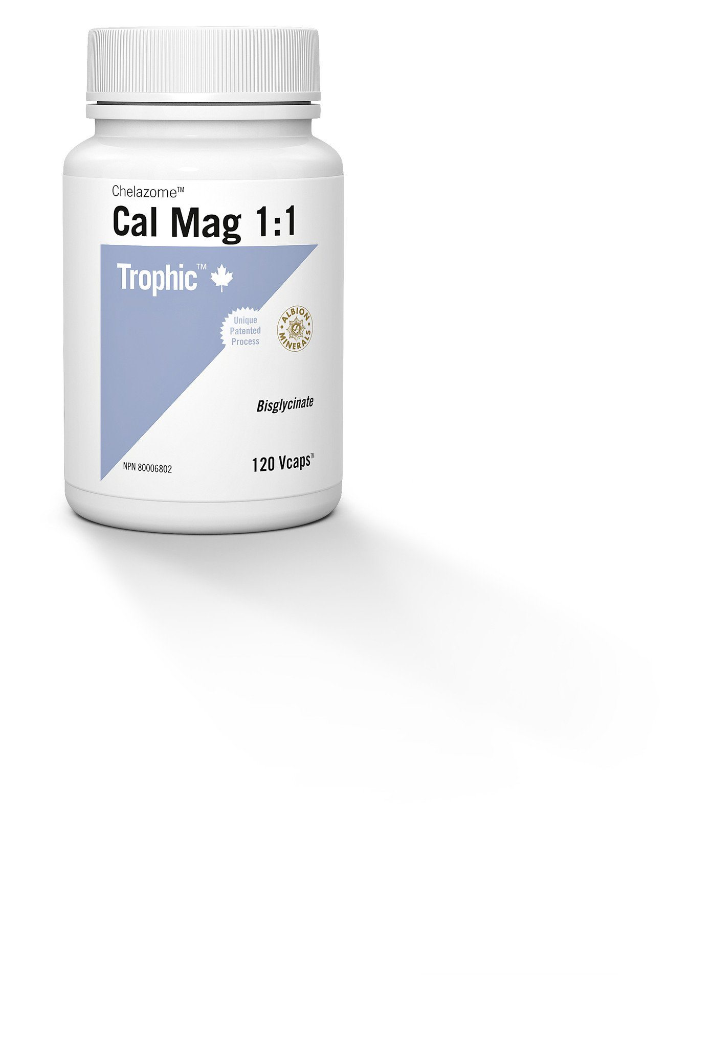 Supplements & Vitamins - Trophic - Cal Mag 1:1 (Chelazome), 120 Vcaps