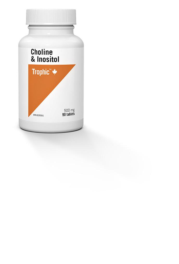 Supplements & Vitamins - Trophic - Choline & Inositol, 90 Tabs