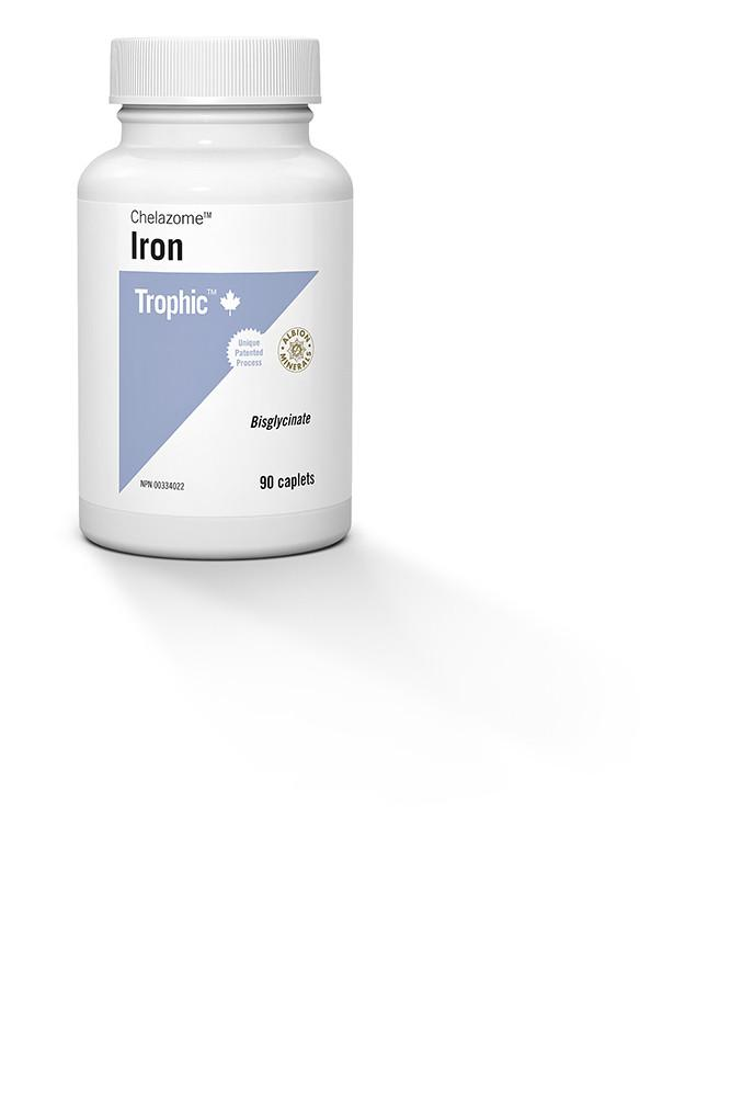 Supplements & Vitamins - Trophic - Iron (Chelazome), 90 Capsules